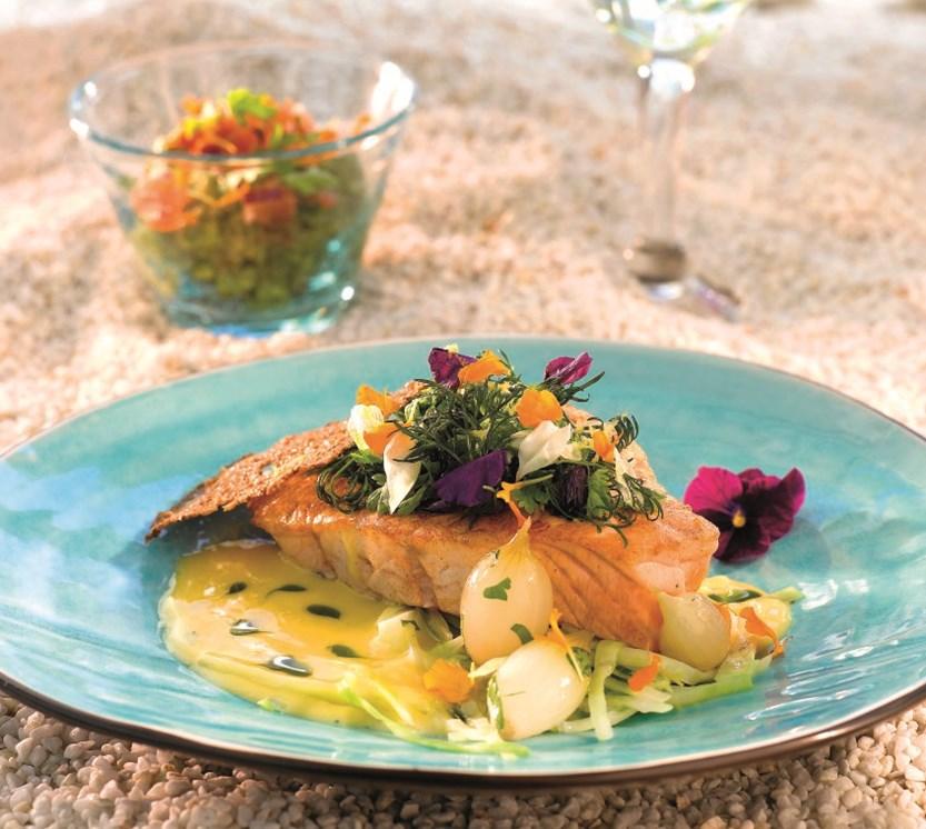 sitronsaus til grillet fisk